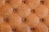 Texture of brown vintage sofa — Stock Photo