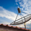 Satellite dish with blue sky — Stock Photo #27690747