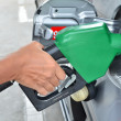 Foto Stock: Mpumping gas in to tank