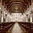 Interior inside the cathedral of the immaculate conception — Stock Photo