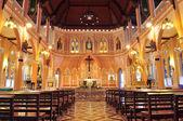 Interiér uvnitř katedrála neposkvrněného početí panny marie — Stock fotografie