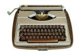 Vintage typewriter isolated on white — Stock Photo
