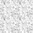 Sea seamless pattern — Stok Vektör