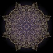 Patrón ornamental de encaje floral — Vector de stock