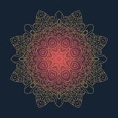 кружева цветочный орнамент — Cтоковый вектор