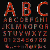 Alphabet design — Stock Vector