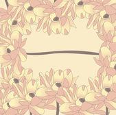 Abstratas flores fundo — Vetor de Stock