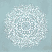 Vintage lace ornamental pattern — Stock Vector
