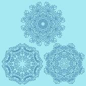 Snowflakes in retro style — Stock Vector