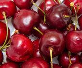 Ripe cherries close-up — Stock Photo