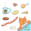 Stock Vector: Cat's forage (vector)