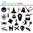 23 halloween pictogrammen — Stockvector