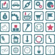 Icons about earning, saving and spending money (vector) — Imagens vectoriais em stock
