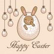 Vector de stock : Card - Happy Easter