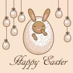 kaart - vrolijk Pasen — Stockvector