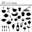 26 Food icons (vector) — Stock Vector