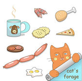 Cat's forage (vector) — Stok Vektör