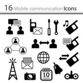 Set of icons - mobile communication ( vector) — Stock Vector