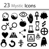Set of icons - Mysticism — Stock Vector