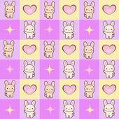 Seamless texture - rabbits in love (vector) — 图库矢量图片