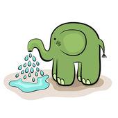 Small elephant (vector) — Stock Vector