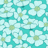 Seamless texture with water lilies (vector) — Stok Vektör