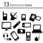 Set of electronics icons — Stockvector