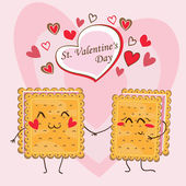 Card - St. Valentine's Day (Vector) — Stock vektor