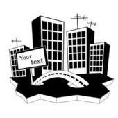 Cities silhouette (vector) — Vector de stock