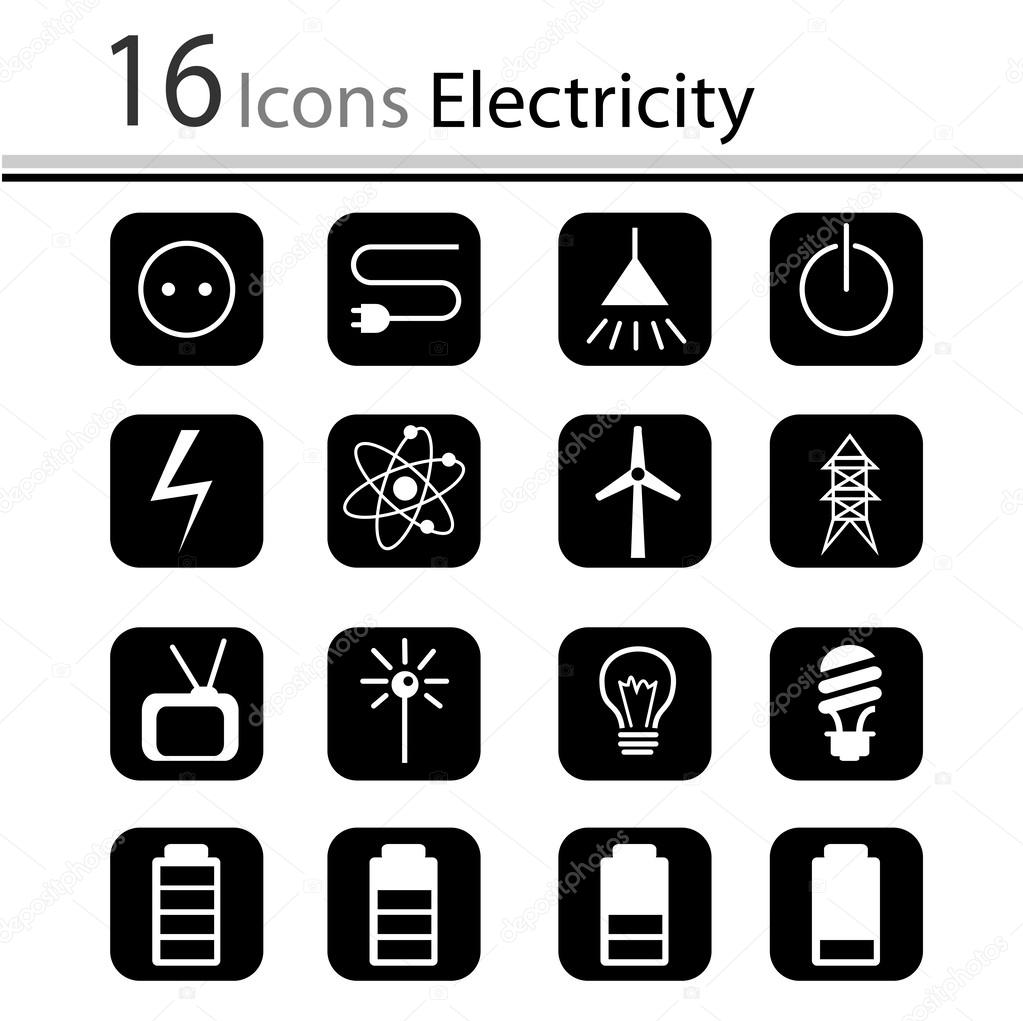 Free Electricity Vector Icons Circuit Board Letters Colourbox Images Of