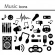Set of music icons (Vector) — Stock Vector