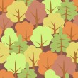 Seamless texture - the Autumn wood (vector) — Vektorgrafik