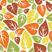 Seamless texture - the Leaf fall (color) — Stock Vector
