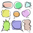 Color speech bubbles - scribble — Stock Vector