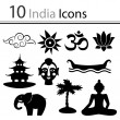 Set of icons India — Stock Vector