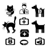 Set of icons - Treatment of pets — Stock Vector