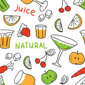 Set of natural juice — Stock Vector