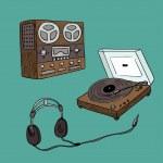 Audio players — Stock Vector #45800595