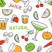 Owoce i sok — Wektor stockowy