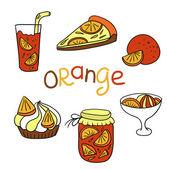 Orange icons — Stock Vector