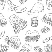 Texture with fast food — Stock Vector