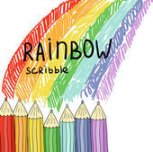 Background with scribble - rainbow — Stock Vector