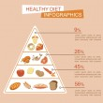 Health food infographic — Stock Vector