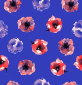 Motivo floreale blu — Vettoriale Stock