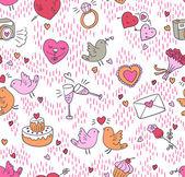 Seamless love pattern — Stock Vector