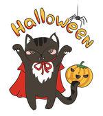открытки хэллоуин — Cтоковый вектор