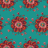 Textura sin fisuras con flores abstractas — Vector de stock