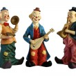 Stock Photo: Ceramic figurines clowns musicians