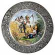 Decorative plate on the wall — Stock Photo