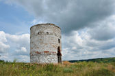 Old brick water tower — Stock Photo